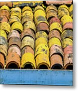 Roof Tile Metal Print
