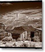 Rooflines Bodie Ghost Town Metal Print