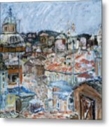 Roofs Of Rome Metal Print