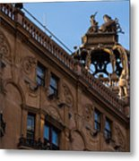 Rooftop Chariots And Horses - The Hippodrome Casino Leicester Square London U K Metal Print