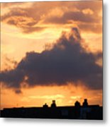 Rooftop Sunset 2 Metal Print