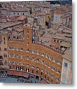 Rooftops And Cafes Of Il Campo Metal Print