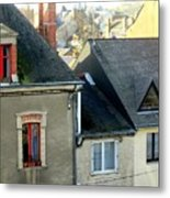 Rooftops, Chateaubriant Metal Print