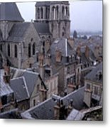 Rooftops Of Blois In France 2 Metal Print