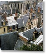 Rooftops Of Blois In France 3 Metal Print