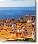 Rooftops Of Old Town Dubrovnik Metal Print