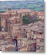 Rooftops Of Siena 2 Metal Print