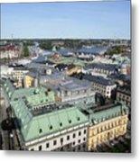 Rooftops Of Stockholm Metal Print
