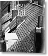 Rooftops Of Belgium Gothic Style Metal Print