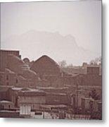 Rooftops, Yazd, Iran Metal Print