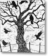 Rook Tree Metal Print