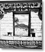 Room With A View Black And White Metal Print