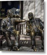 Roosevelt And Churchill Statue Metal Print