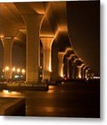 Roosevelt Bridge At Night Metal Print