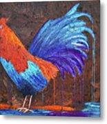 Rooster Painting Metal Print