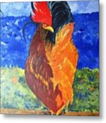 Rooster With Attitude Metal Print