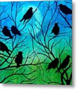 Roosting Birds Metal Print
