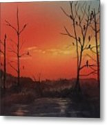 Roosting For The Night Metal Print