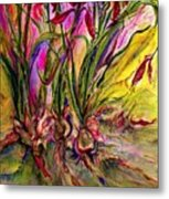 Roots In Pink Metal Print