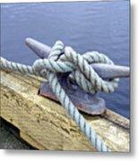 Rope And Bollard Metal Print