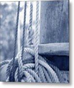 Rope And Mast Metal Print