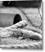 Rope And Piped Metal Print