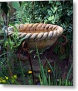 Rope Edged Bird Bath Metal Print