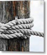 Rope Fence Fragment Metal Print