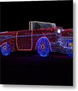Rope Light Art 1957 Chevy Metal Print