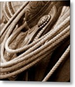 Rope N Saddle Metal Print
