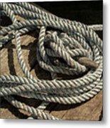 Rope On The Dock Metal Print