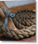 Eagle Shackle And Line Metal Print