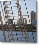 Ropes And Cables Of The Queen Mary Metal Print