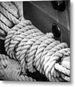 Ropes And Pulleys Metal Print