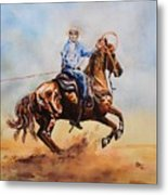 Roping Action Metal Print