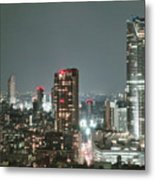 Roppongi From Tokyo Tower Metal Print
