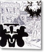 Rorschach 3 Angel Of Death Metal Print