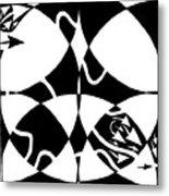 Rorschach Maze Metal Print