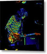 Saturated Blues Rock With Text Metal Print