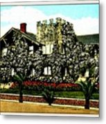 Rose-covered Residence, Long Beach Ca, 1910 Metal Print