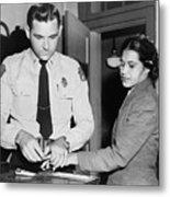 Rosa Parks 1913-2005, Whose Refusal Metal Print