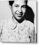 Rosa Parks Was A Member Of The Naacp Metal Print by Everett