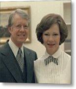 Rosalynn Carter And Jimmy Carter Metal Print by Everett