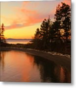 Rosario Beach Sunset Metal Print