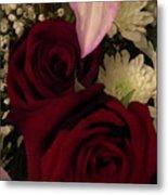 Rose And Lily Metal Print
