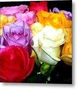 Rose Bouquet Painting Metal Print