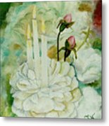 Rose Candles Metal Print