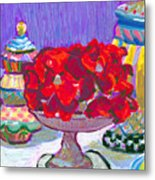 Rose Covered Cake Metal Print
