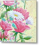 Rose Diptych 1 Metal Print