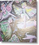 Rose Fairies Metal Print